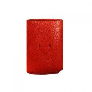 moteriška raudona odinė piniginė 5