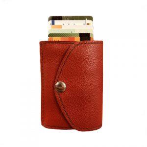 moteriška raudona odinė piniginė 3